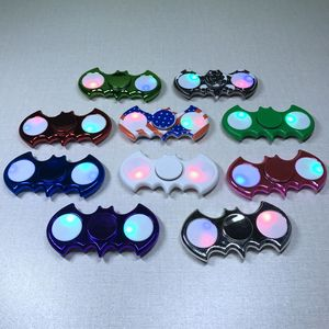 2017 new switch control bat shape promotion LED hand fidget spinner