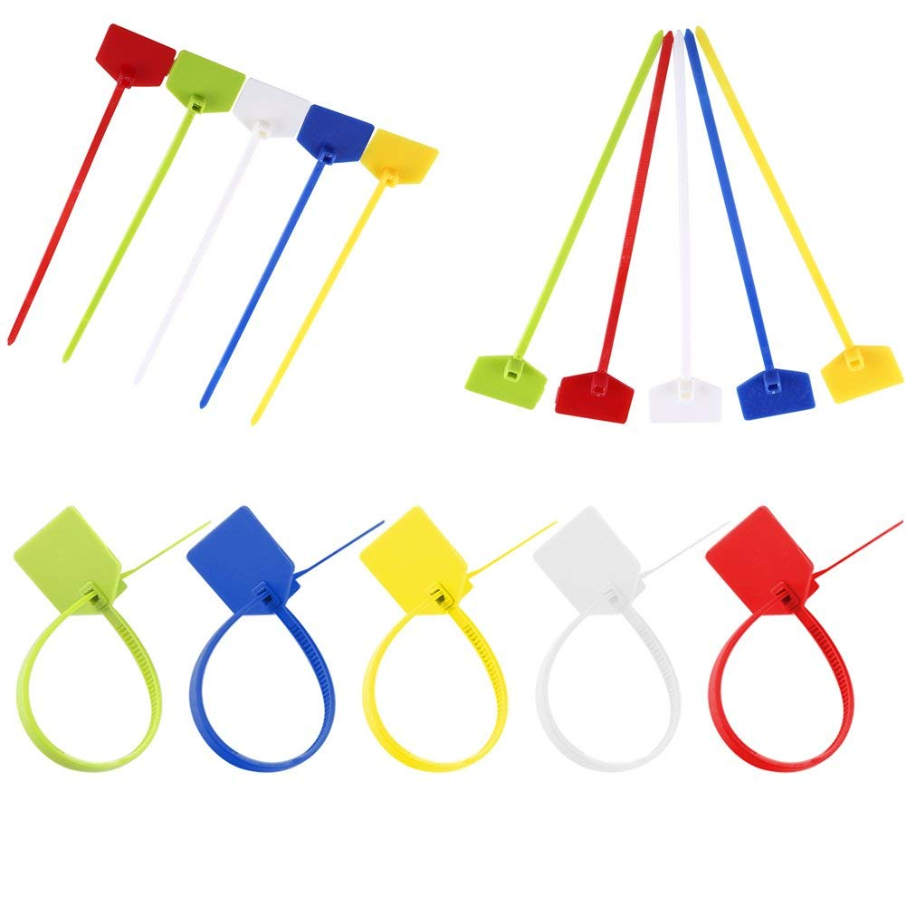 2d045a772 Get Quotations · 500pcs 4 x 160mm Maker Nylon Cable Ties ,5 Kinds of Multi  Colorful Wire Zip