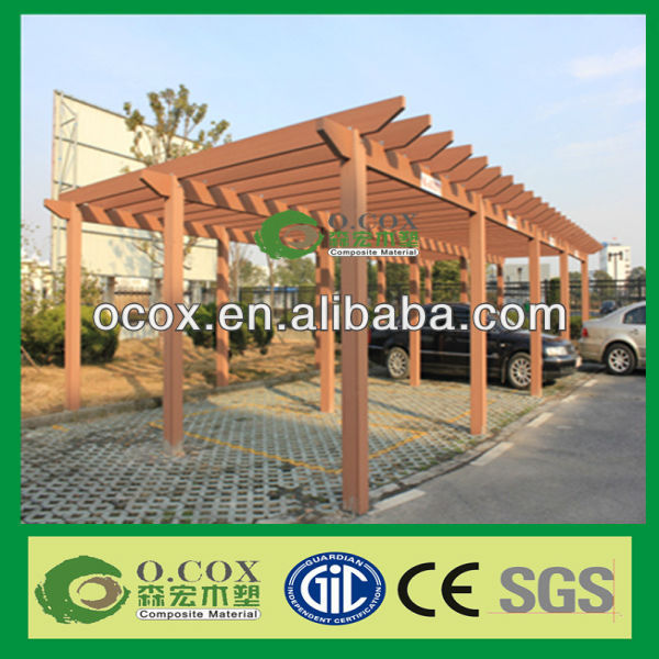 Outdoor Water-Proof Wood Plastic Composite WPC Carport