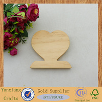 funny pine wood heart craft for decoration or gift