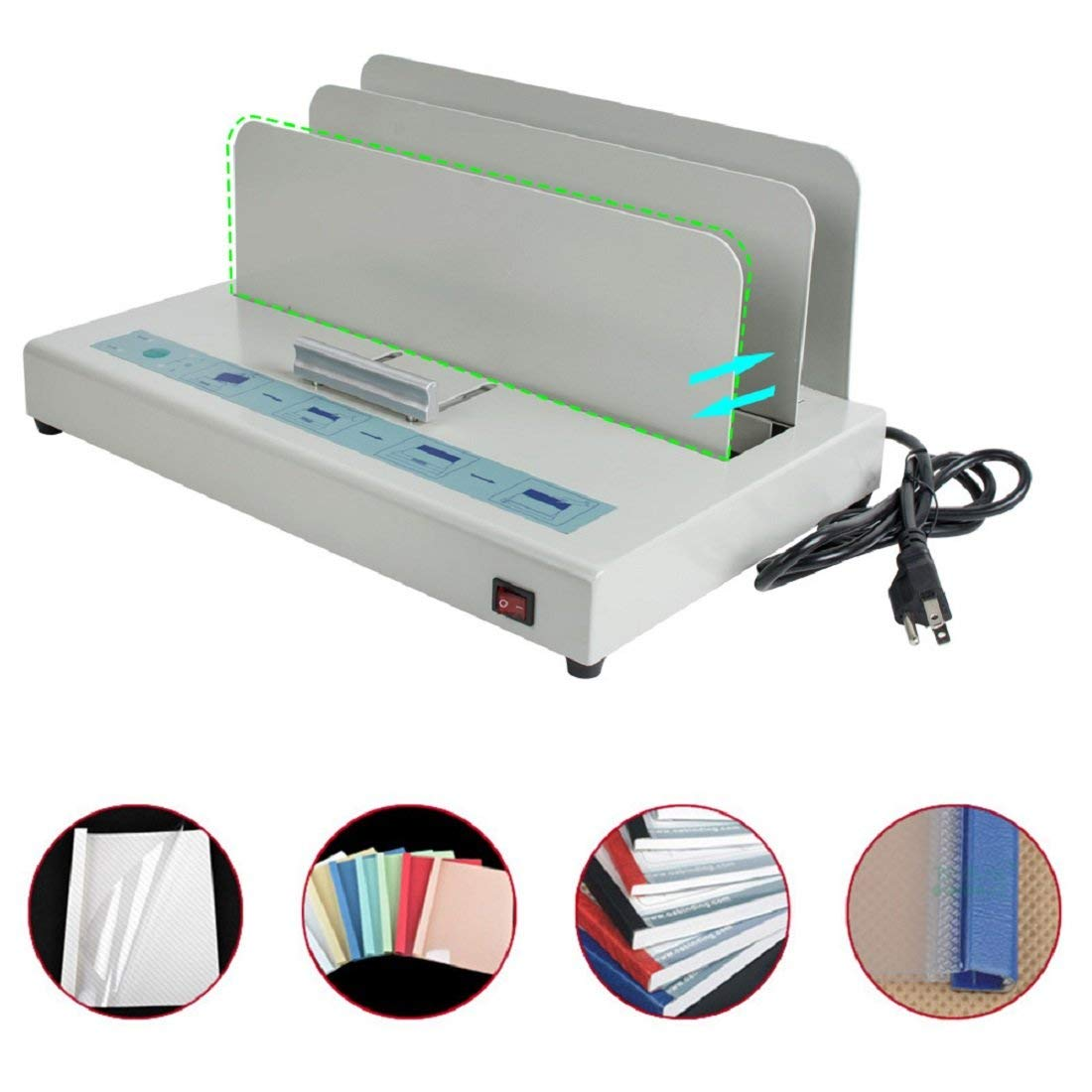 Jinon Thermal Binding Machines,Bookbinding Machine Thermal Electric Binder Hot Melt Binding Machine Glue Binding Machine Hard Cover Binder-Shipping from USA