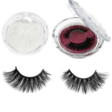 รอบ Eyelash Case 3D Mink Eyelashes Strip Lashes