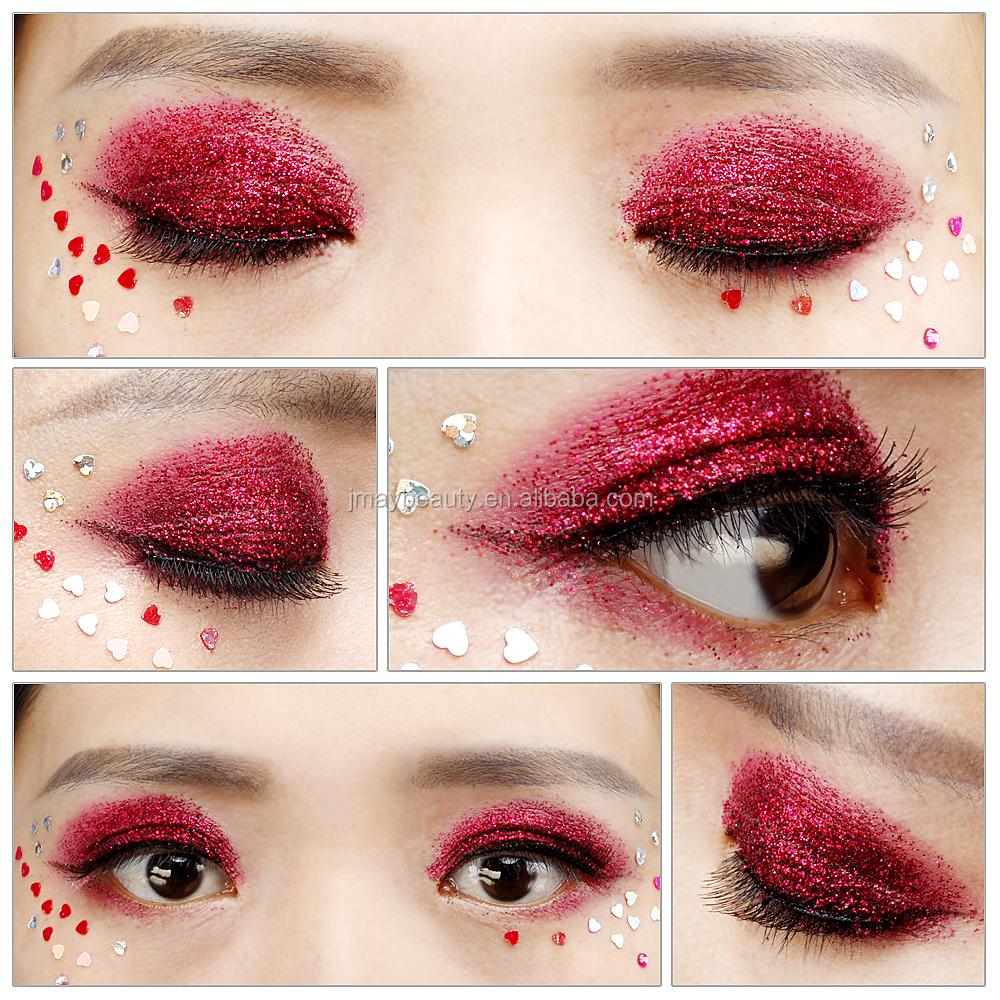 Glitter Makeup Cream Creme Orange Gold Pink Red Gold Round Square
