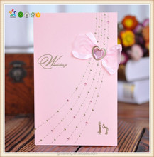 Unique design red wedding invitation card birthday card for wholesale
