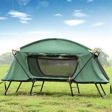 Outdoor thickened double people tent bed anti-raining camping gears two layers tent chair
