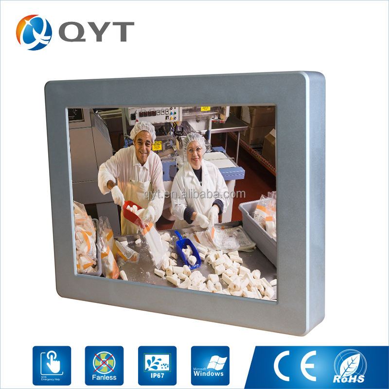 "Popular and fashion fanless touchscreen bluetooth wifi antenna 12"" embedded industrial panel pc"