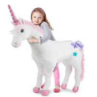 Jumbo children girl unicorn peluche plush