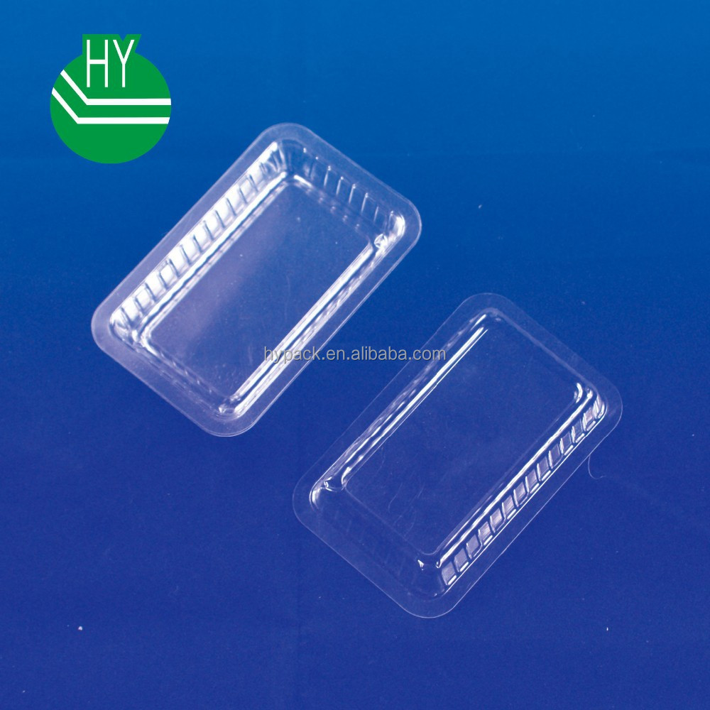 small size clear plastic seaweed/dessert tray