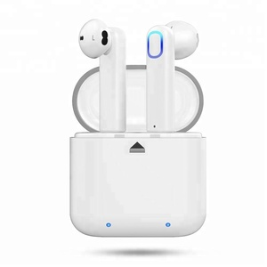 China Dual Wireless Bluetooth V4.2 True Mini In-Ear Headsets Stereo Earphone with Charging Box for iPhone and Other Smartphones