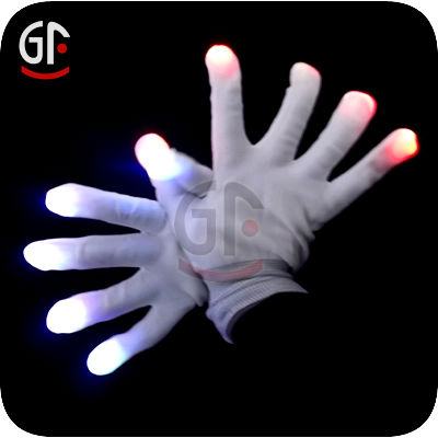LED Flashing Cosplay Novelty Glove Flash Gloves For Halloween