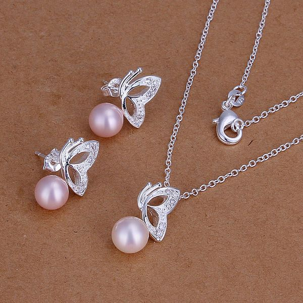 Cheap Pearl Necklace Sets: Wholesale Fashion Jewelry 925 Sterling Silver Jewelry Sets
