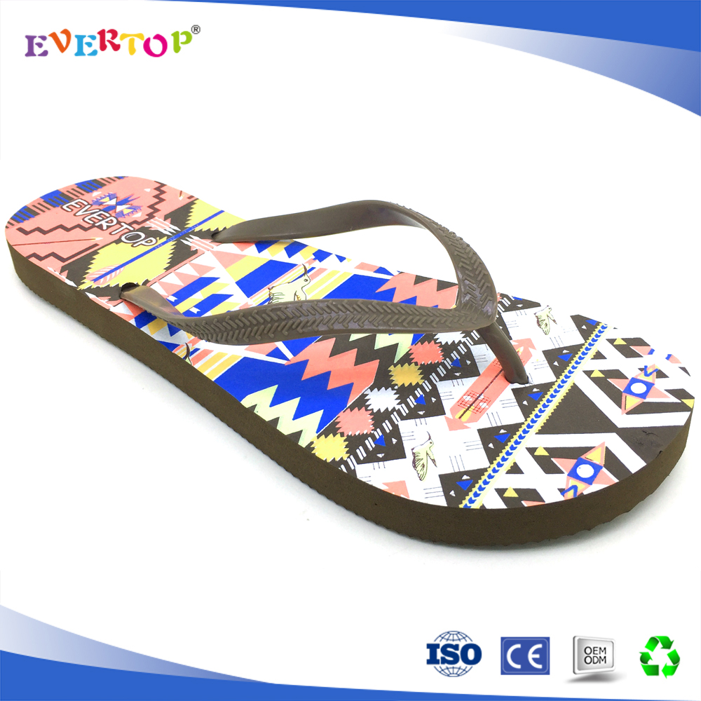 EVERTOP 2018 fashion women one strap flip flops shoes free sample beach slipper shoes