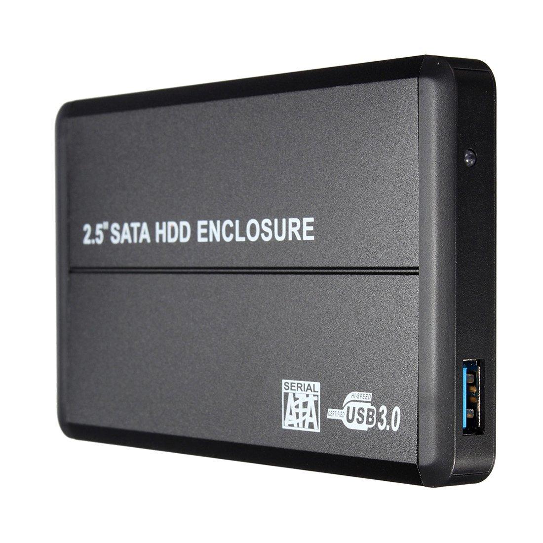 "2.5"" SATA HDD Enclosure Case - TOOGOO(R)USB 3.0 SATA 2.5"" Hard Disk Drive HDD External Enclosure Case Box For Laptop PC Black"