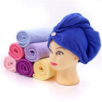 absorbent hair dryer towel cheap wholesale custom microfiber hair turban towel