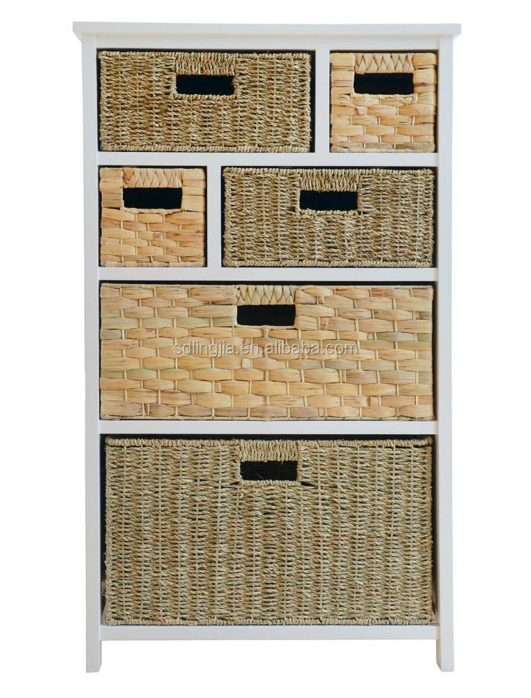 Gran espacio de almacenamiento de unidad cajones de for Gabinete de almacenamiento de bano de madera