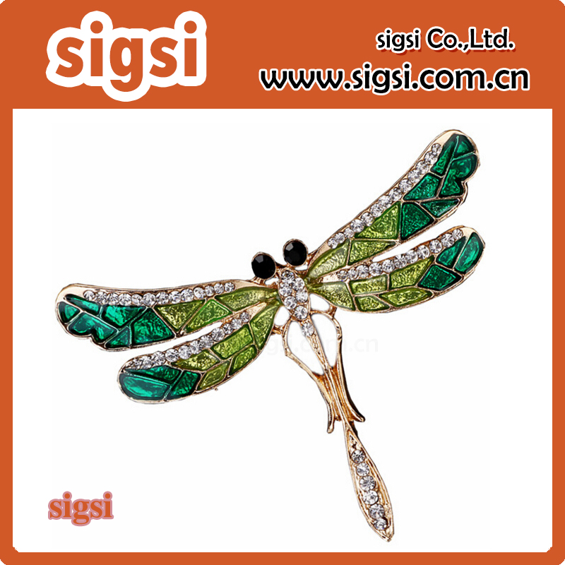 Trendy Chic Charming Cute Dragonfly Brooch Pin Enamel Rhinestone Lovely Garment Jewelry For Men Women Gift Brooches