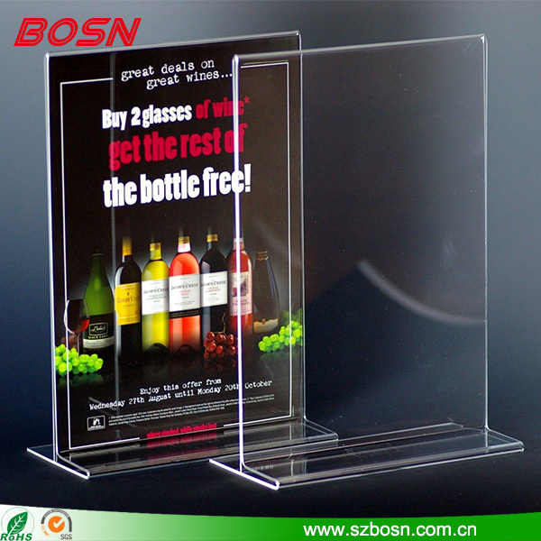 Desktop leaflet holder/wall mounted brochure display stand