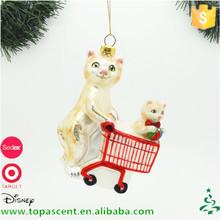 nuevo producto madre y nio gato ornamento de navidad decoracin de vidrio soplado