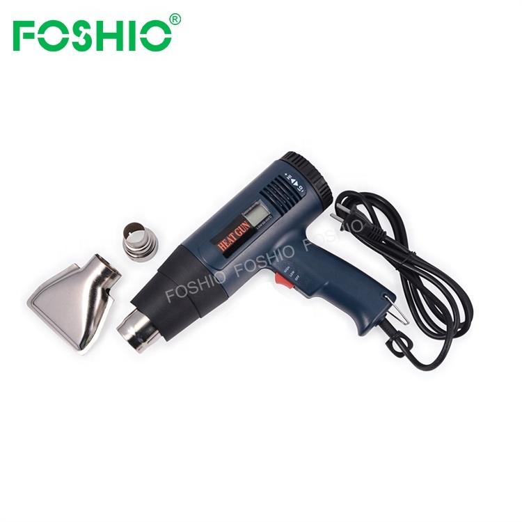 Adjustable Hot Air Heat Gun US EU Plug Temperature Digital Display Vinyl Portable Shrink Heat Gun
