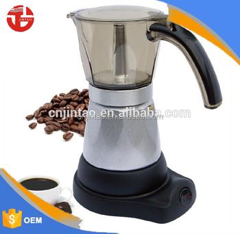 Clic Silver Italian Mocha Electric Coffee Maker Best Espresso Machine