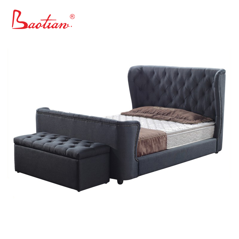 Modern Luxury Bedroom Bed Design Furniture With Storage And Ottoman - Buy  Storage Ottoman,Luxury Bed Designs,Latest Design Furniture Bed Product on  ...