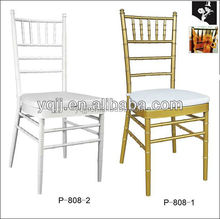 Wholesale ballroom white metal silla tiffany chiavari chair banquet for wedding hall for sale