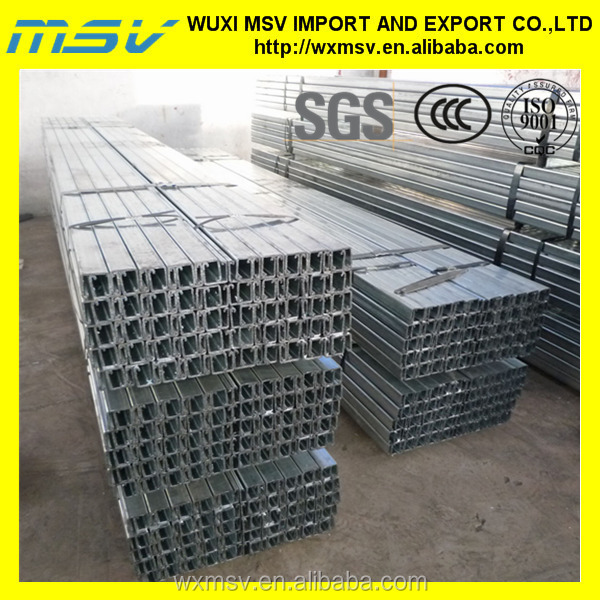 Galvanized Slotted Cold Formed Steel Supporting Strut Channels