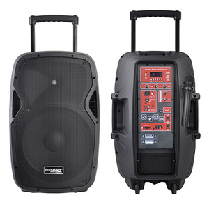 Portable Active Powered PA Speakers System With Microphone CSL15BZ-V1BP-BT