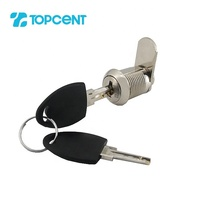 TOPCENT furniture metal safe mailbox post brass cabinet cylinder door tubular safe cam lock