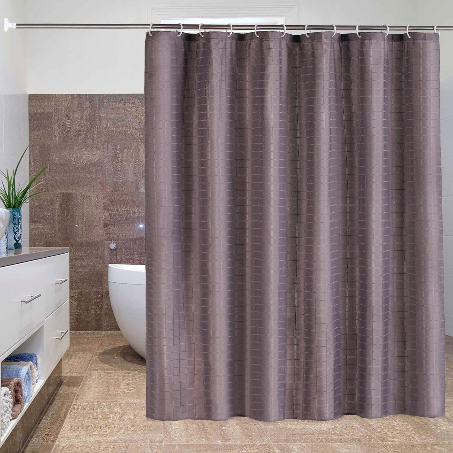 Get Quotations Fabric Shower Curtain Bathroom Cloth Mildewproof Waterproof And Washable Non Toxic