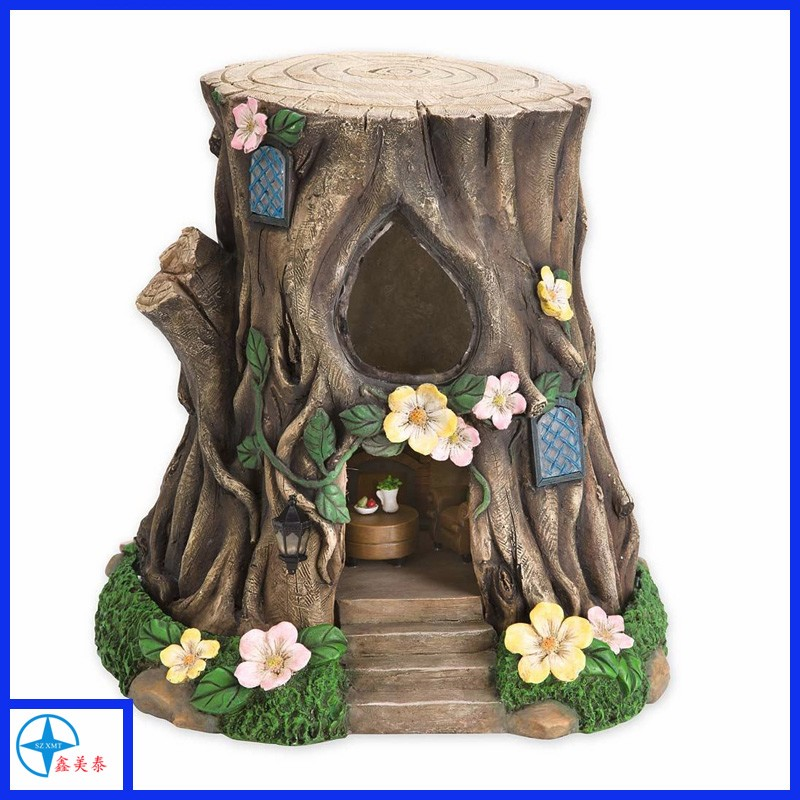 Hot sell resin miniature fairy garden nut house for decoration
