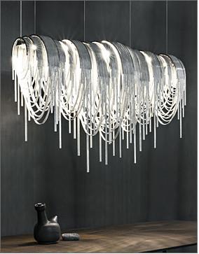 Modern soscik ceiling chandelier light silver chain ceiling modern soscik ceiling chandelier light silver chain ceiling chandelierstainless steel chains chandelier aloadofball Images