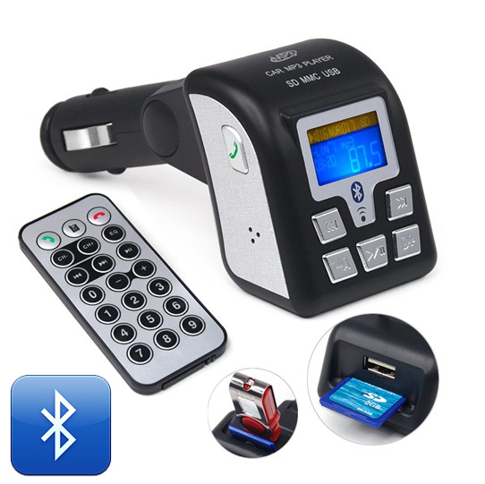 New!! BF-805 Hands-free Bluetooth Car Kit kits / Car MP3 Player FM Transmitter / USB / SD / Line In Free shipping