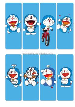 Hot Japanese Manga 8pcs Doraemon Kids Cartoon Printed Anime Paper Bookmark For Book Note Set
