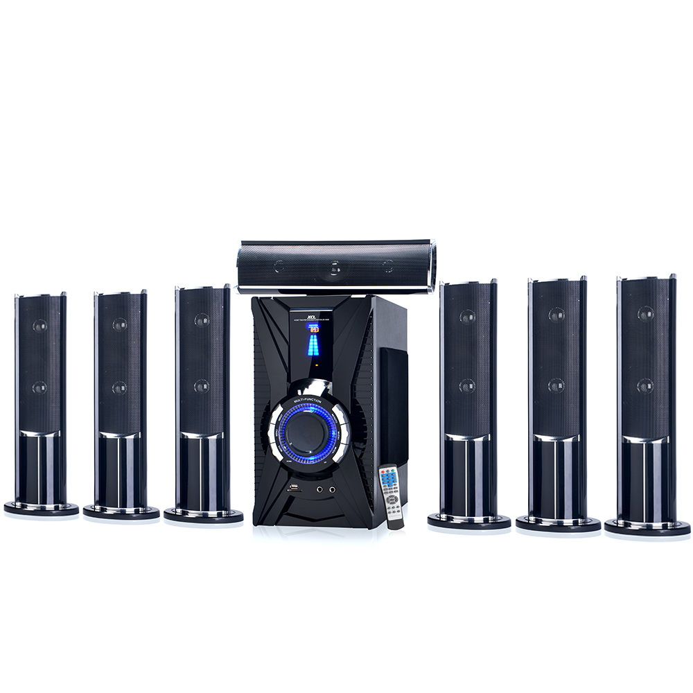 2017 New virtual 5.1 7.1 surround sound active amplifier karaoke speaker system