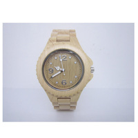 2017wholesale eco-friendly natural vogue luxury wooden wrist watch bamboo