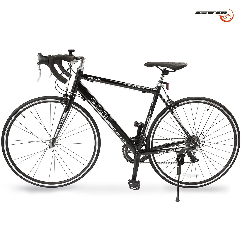GTM Shimano Road Bike 14 Speed Racing Bicycle Aluminum Frame Black