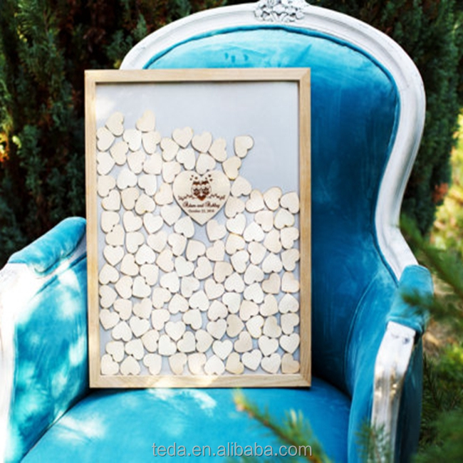 Wedding Guest Book Alternative Heart Drop Guest Book