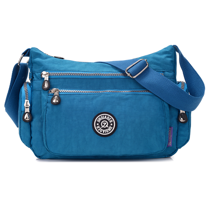 Women Multi-pocket Lightweight Waterproof Nylon Casual Handbag Travel Crossbody Messenger Bag <strong>Totes</strong>