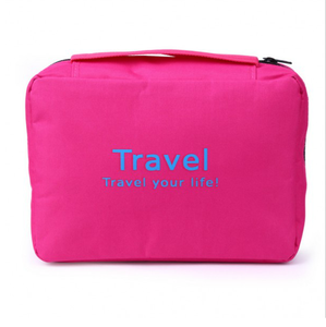 Custom Fashion Foldable Cosmetic Pouch Hanging Travel Toiletry Bag For Men and Women