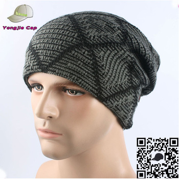 bf374d7eed13 winter thick slouch beanie hat mens new custom eco friendly beanies men  custom beanies men