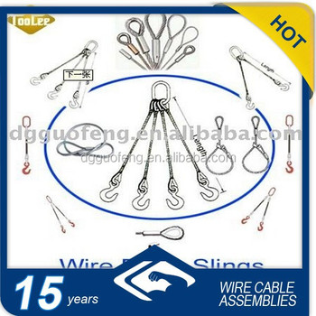 various kinds wire rope lifting slings with soft eyelet