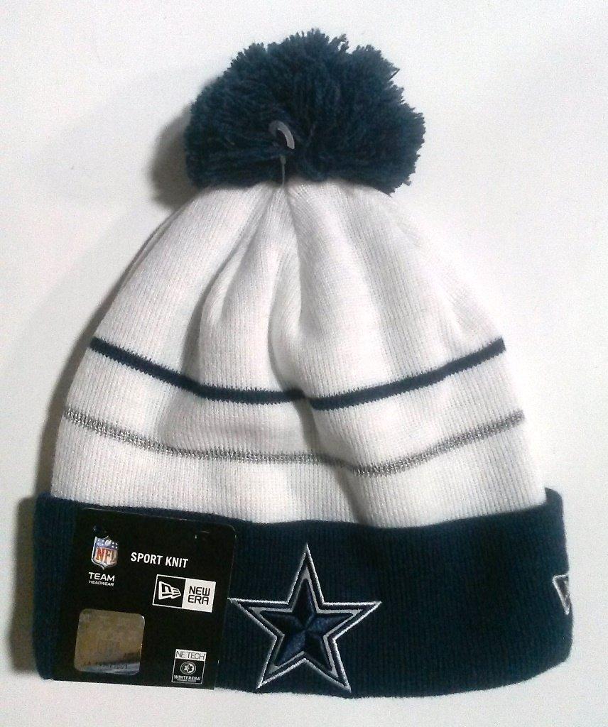 New Era Dallas Cowboys Fan Knit Cuff Pom Beanie 7575cfab8f2e