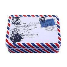Мини винтажная жестяная сумка для хранения монет, коробка для ювелирных изделий, Прекрасный Принт, подарки для девочек, настольный держател...(Китай)