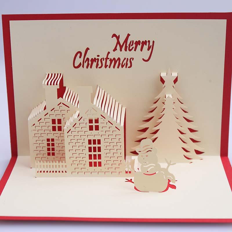 Auguri Di Natale 3d.Fatti A Mano Di Lavoro Manuale Paper Pop Up Personalizzato 3d