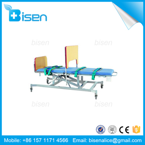 BS-SLC-02 Physiotherapy Equipment Standing Flat Adjustable Height Tilting Table(handle inching switch)