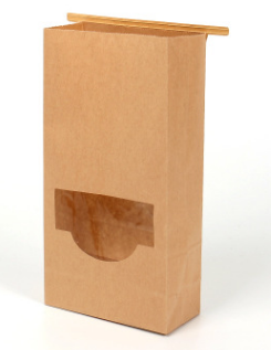 Custom Printed Brown And Black Kraft Paper Food Bag Zipper Stand Up Pouches Ziplock Paper Bags With Clear Window