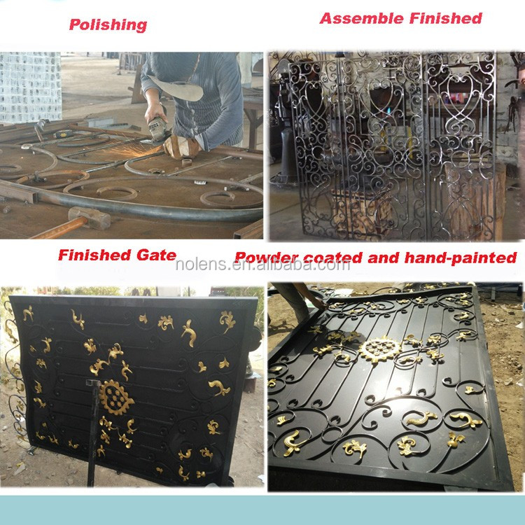 Wrought Iron Gate Metal Gateswing Open Style And Wrought Iron Sl