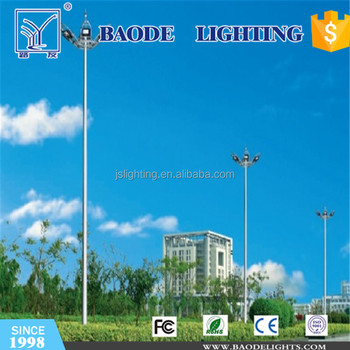 18/20/30/35m 15m high mast pole lamp/ high mast pole manufacturers / high mast road lighting