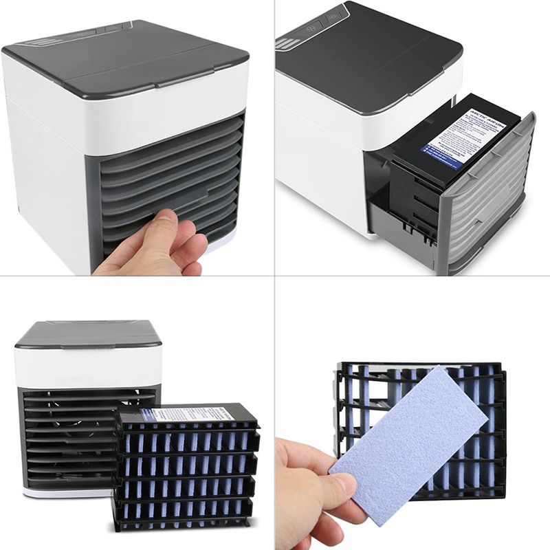 2019 New USB Mini Portable Air Conditioner Desk Light Purifier Humidifier arctic Air Cooling Fan Air Cooler for Home Office